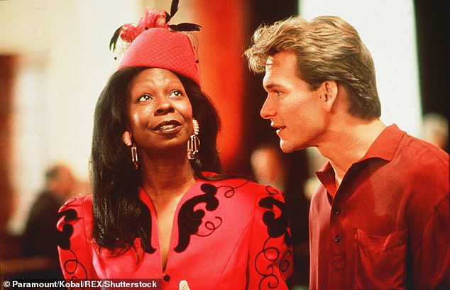 Iconic: The actress, who won a Best Supporting Actress Oscar for her role as fake psychic Oda Mae Brown in the film, said Patrick Swayze refused to do the film without her