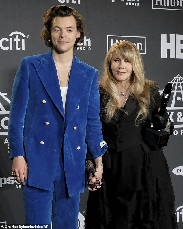 One thing that seems to have kept her going is her close friendship with One Direction star Harry Styles (pictured together in March 2019) - who repeatedly called her during the lockdown and offered to drop off supplies.