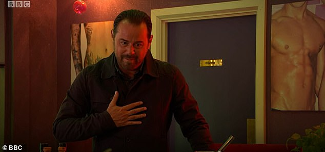 Heartbreak:EastEnders viewers were left devastated as Mick Carter blamed himself for being sexually abused as a child, following the revelation he had fathered a daughter at age 12
