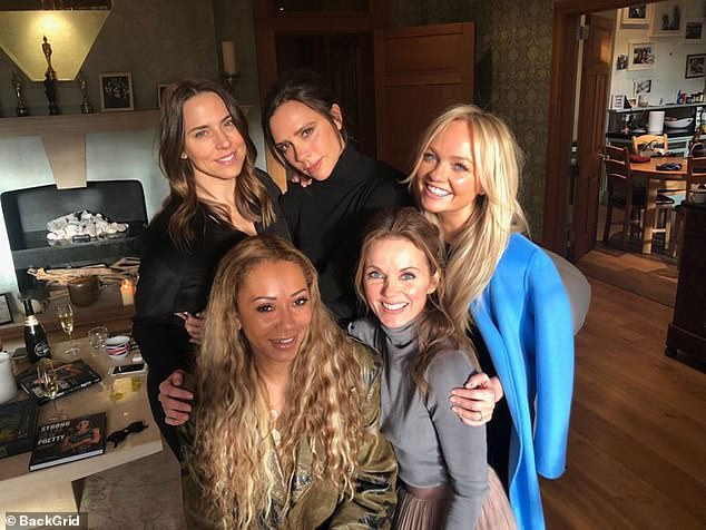 Exciting times: Ginger Spice (48), Victoria Beckham (46), Mel C (46), Mel B and Emma Bunton (44) celebrate their silver anniversaries next year (picture 2018)