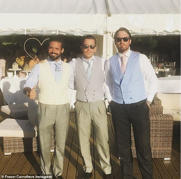 Pals: Fraser is seen partying with Spencer Matthews, left, and is close friends with a range of the Made In Chelsea circle