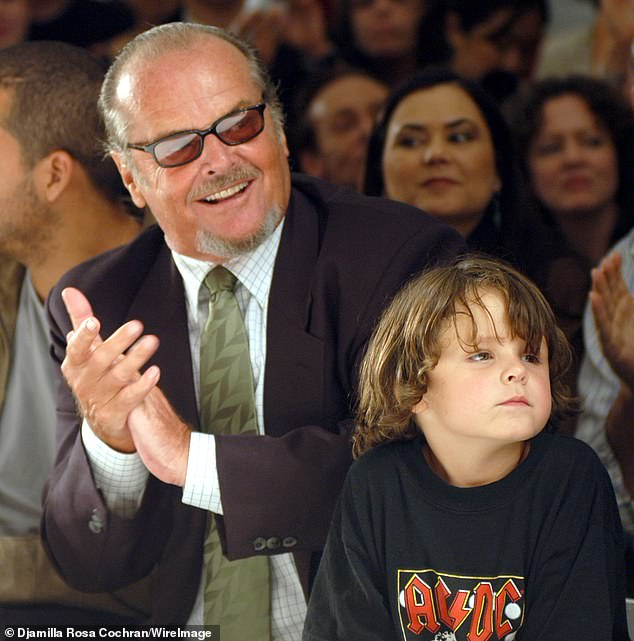 Sports Links: Meanwhile, the 21-year-old American actor (right) is best known as the grandson of three-time Oscar winner Jack Nicholson (left) and his ex-wife Sandra Knight ( photo from 2004)