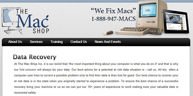 How it got there: MacIsaac offers data recovery services at his store in Wilmington, DE, and Hunter Biden simply walked in with three damaged laptops. Two had water damage and one had a sticky keyboard. But he never returned to retrieve them