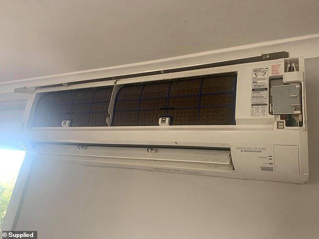 A broken air conditioner was found inside Chris Taranto's home