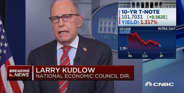 On February 24, Larry Cudlow told CNBC there was little reason to worry about COVID.