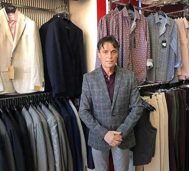 Harry Hutchinson (pictured) reopened 'Harry's Clothing' in Berwick in Melbourne's southeast on Monday despite lockdown orders and has received a wealth of community support since his controversial decision