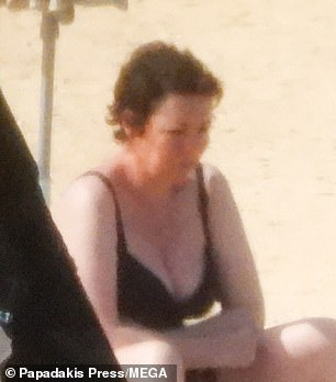 Star-studded: Olivia Colman (pictured) and Dakota Johnson were seen on the set of their upcoming film The Lost Daughter on the beach in Greece for the first time earlier this week