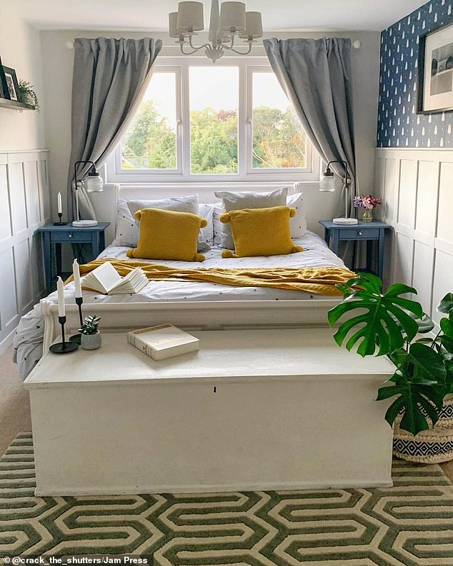 One of the amazing bedrooms in the five-bedroom family home in Bramhall, Cheshire