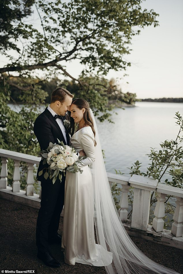 In August Ms Marin married her long-term partner Markus Raikkonen, with whom she shares two-year-old daughter Emma Amalia Marin. The couple have been together for 16 years after meeting when they were 18