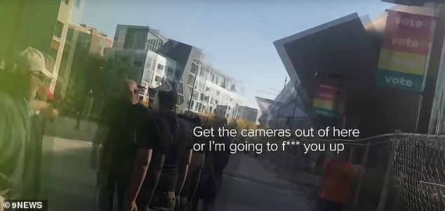 New details about the case emerged on Tuesday in the two videos released by 9News. The first video shows Keltner confronting a 9News producer and demanding that he turn off his camera just seconds before Dolloff stepped in and shot him point blank