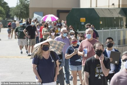 TEXAS: Similar scenes unfolded in Texas, where some voting locations had wait times of up to an hour