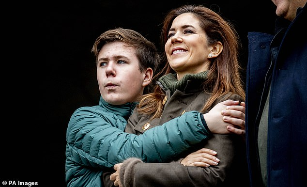 Christian introduced himself with his mother, Princess Mary of Denmark, in 2019 when he was 14 years old