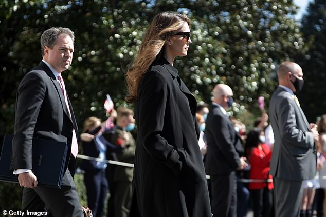 Thursday marked Hope Hicks first public appearance since she tested positive for COVID