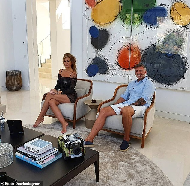 Priority shift: Ester Dee flew overseas to spend time with her Spanish boyfriend, Glynn, which could impact her future on real Cheshire housewives, according to Dawn