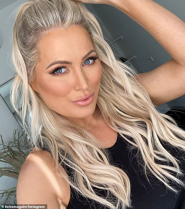 Ouch: Keira Maguire (pictured) offered a BRUTAL response to Bachelor in Paradise being cancelled this week - and then was slammed by Jamie Doran for her comment