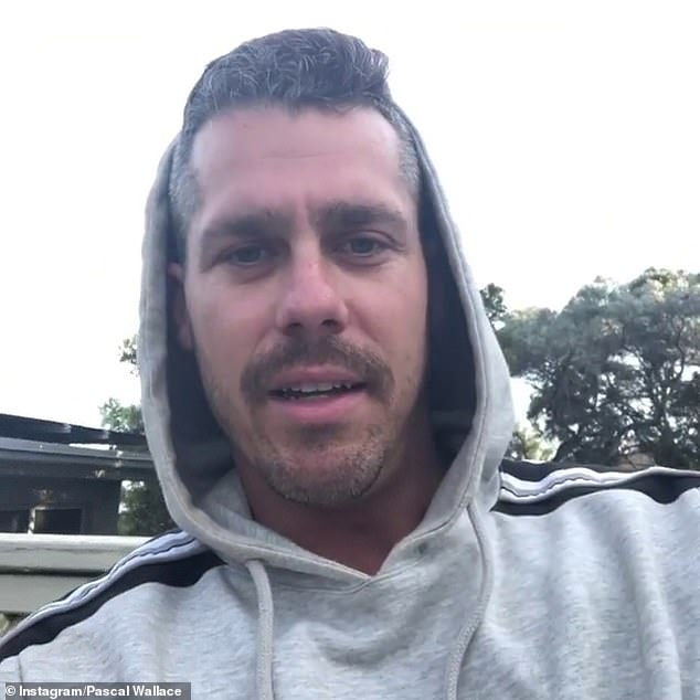 Behind the scenes: The physiotherapist revealed in the clip that he had already spoken to producers about an exit strategy before he was booted from the show