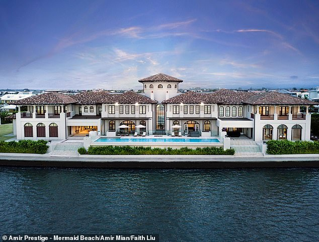 The waterfront home on Knightsbridge Parade East takes up five of the most sought-after north facing blocks on Sovereign Islands. It features a wellness suite, massage room, private maid's quarters and formal Turkish bathhouse