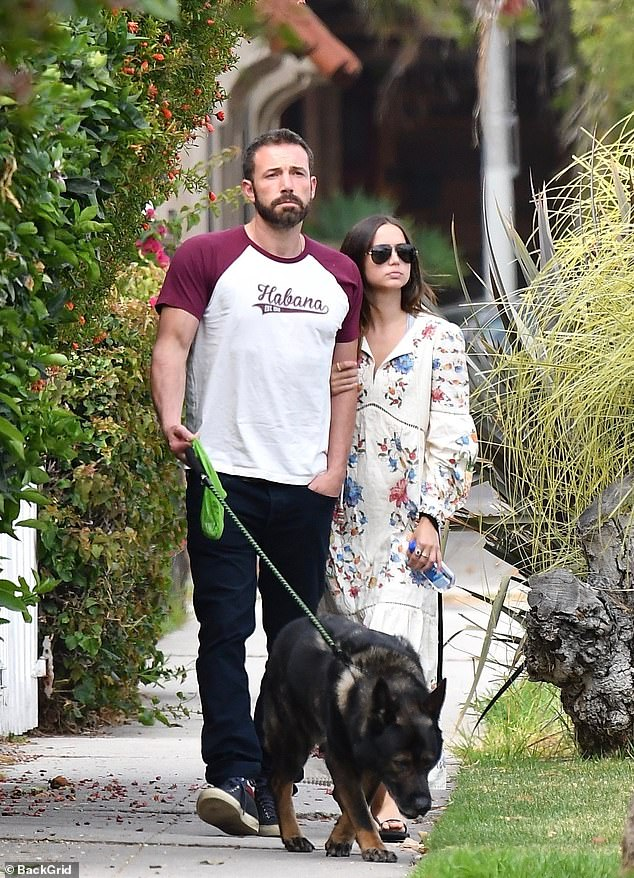 Cute couple: Ben met the future Bond girl on the set of their upcoming thriller Deep Water, in the fall of last year; seen here in June in LA