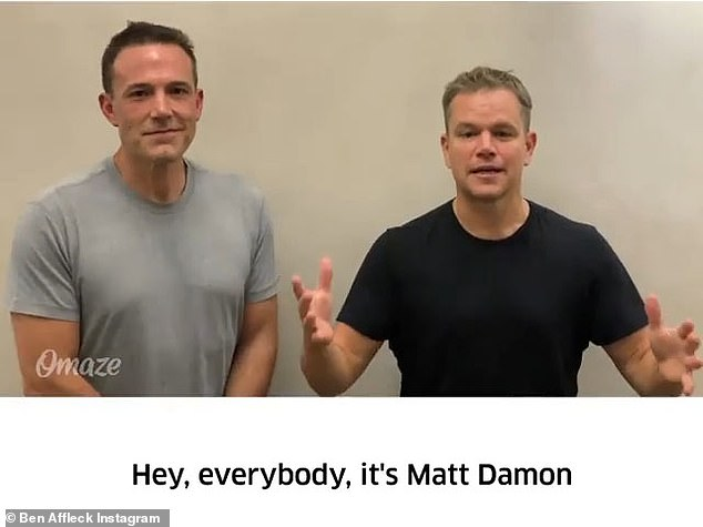Also on Thursday: Affleck and his childhood best friend Matt Damon recently announced a new charity initiative via social media, in a hilarious clip in which they tease each other