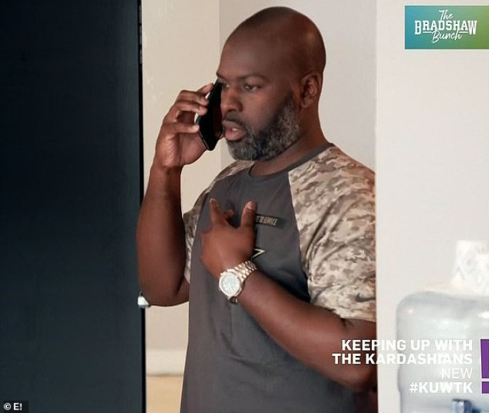 Tough call: Kendall Jenner got an earful from her mother's boyfriend Corey Gamble who called her a 'rude person' on Thursday's episode of Keeping Up With The Kardashians