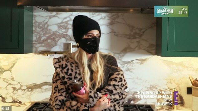 Checking in: Khloe listened as Kendall recounted her conversation with Corey