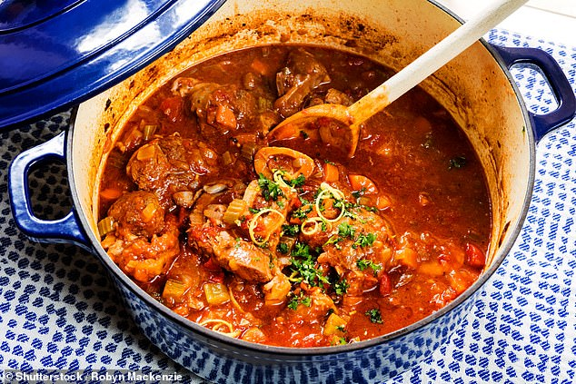 Alice said having the right cookware can make a huge difference to perfecting a dish.She said a non-stick frypan is a must in any kitchen and a cast-iron casserole pot, also known as a Dutch oven, is a 'versatile piece' for slow cooking, roasting and even baking bread (stock image)