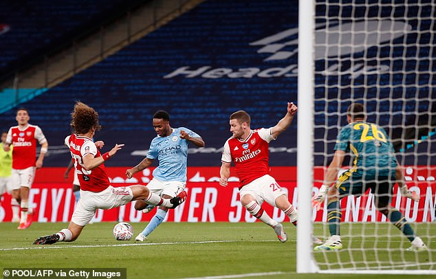Luiz was a stalwart in defence as Arsenal beat City at Wembley to reach the FA Cup final