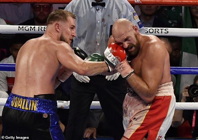 Otto Wallin lost to Fury on points last September but hurt him badly in their Las Vegas bout