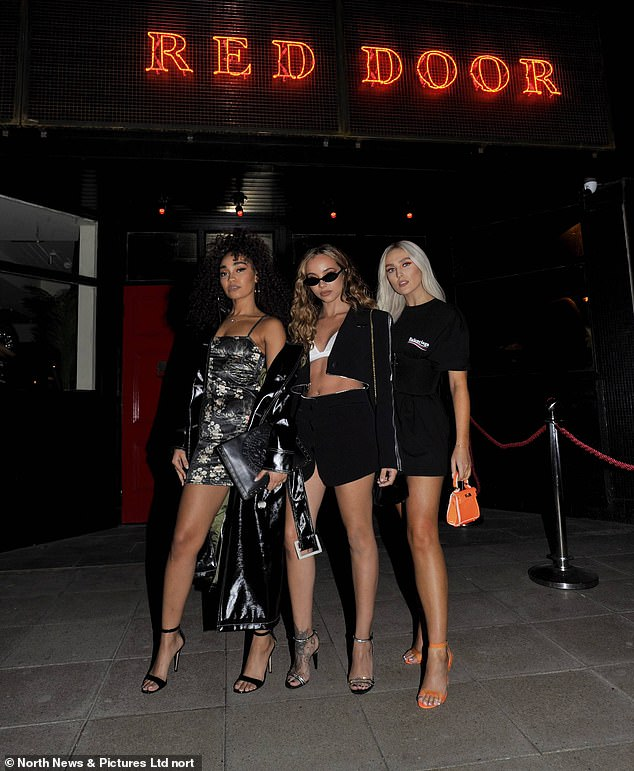 Pals: Jade first opened Arbeia under its original name Red Door last year with a star-studded celebration attended by her bandmates