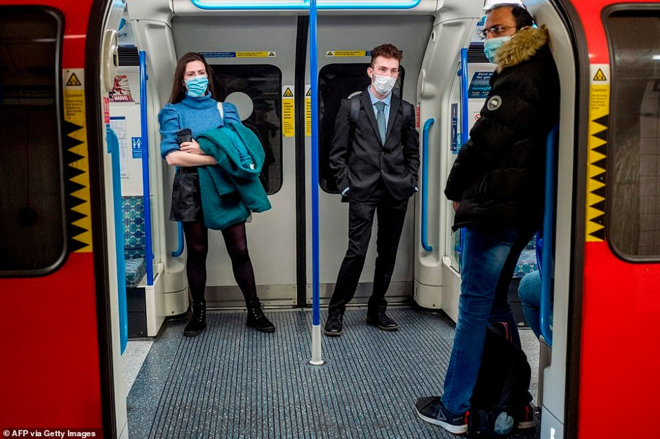 During the peak of the crisis TfL's revenues dropped 95 per cent as people were instructed to work from home and footfall on carriages fell. It has risen slightly since lockdown was initially eased after the first wave, but today Mr Khan said passenger numbers will not return to pre-pandemic levels in the immediate future