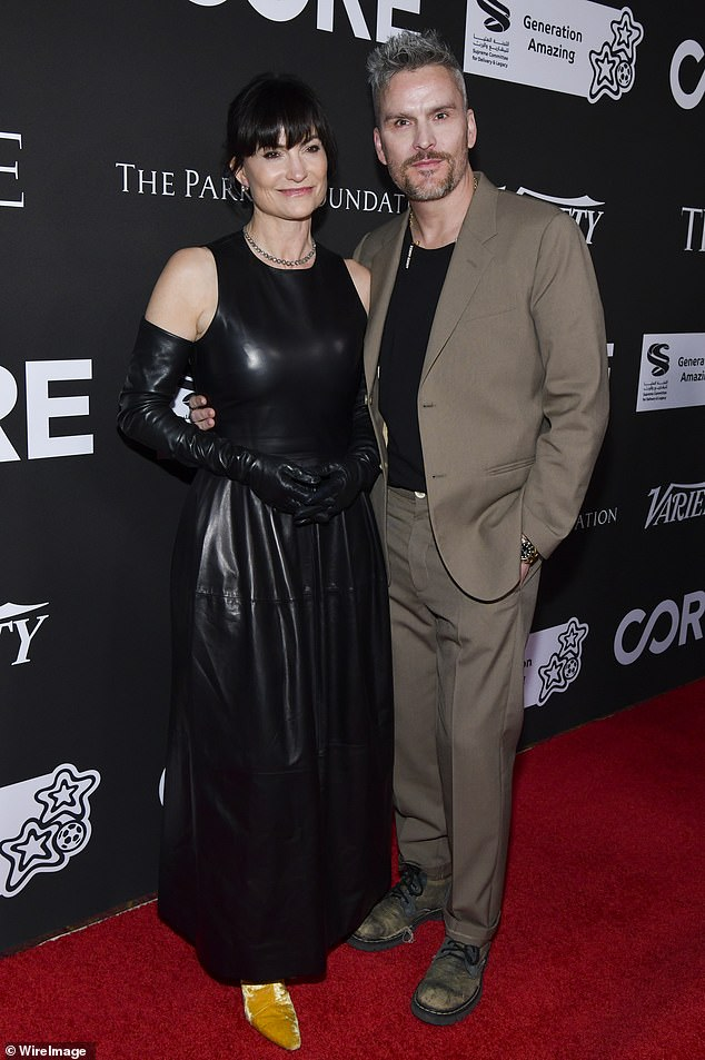 Not an easy year:Balthazar Getty tested positive for coronavirus during the first week of March, he revealed on Friday. Seen with his wife Rosetta in January in LA