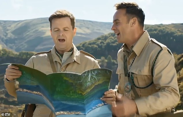 Not long! I'm A Celebrity is set to return next month in the new location of Gwrych Castle in Abergele, North Wales, after it was forced to move from Australia to the UK due to the coronavirus pandemic (hosts Ant and Dec pictured)