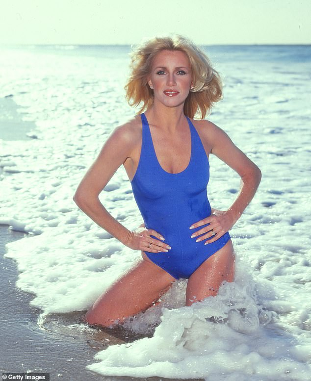 Hot stuff: Here the siren is seen on the beach in LA in 1982. She has made a business of staying young looking