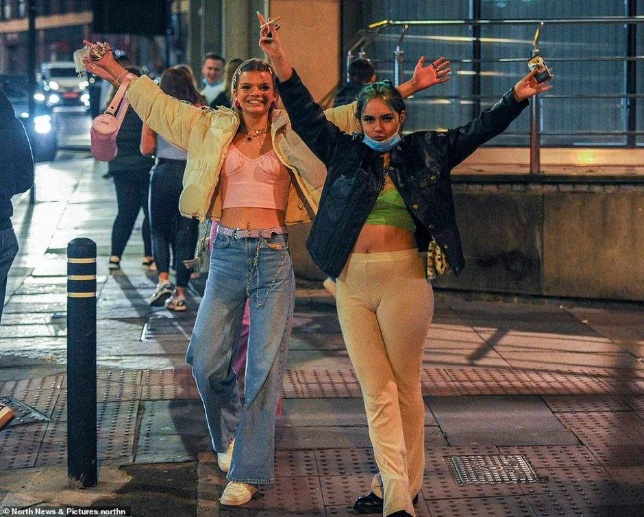 Revellers out in Newcastle Friday as drinkers make the most of the bars being open as Tier Three Covid restrictions hang over the city