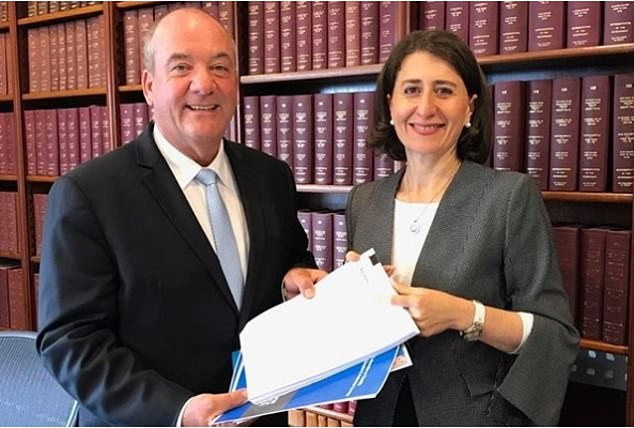 Premier Gladys Berejiklian (pictured right) has face mounting pressure after it was revealed she had a close personal relationship with disgraced former MP Daryl Maguire (pictured left)