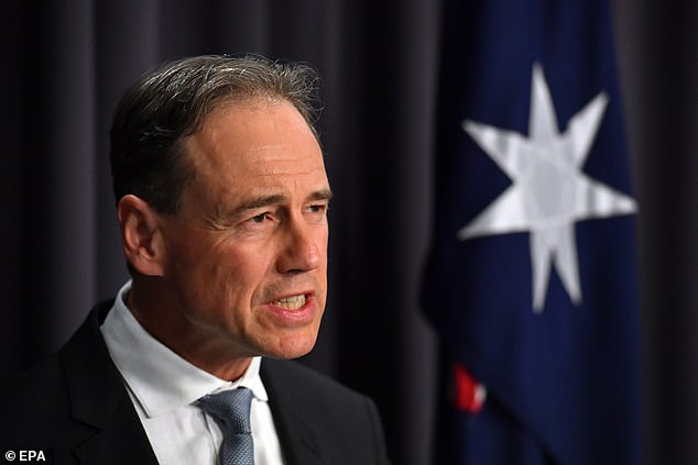 Mr Andrews was highly critical of Greg Hunt (pictured) after he criticised Victoria's lockdown