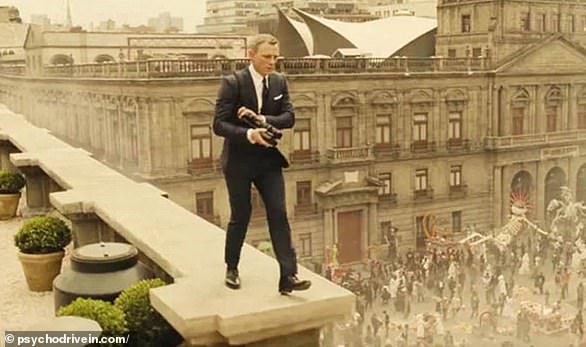 Daniel Craig's last outing as Bond in 2015's Spectre featured the spy walking through a street in Mexico City during the Day Of The Dead festival