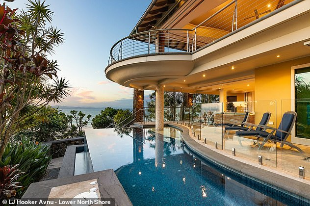 New digs: In recent weeks, Zac is rumoured to be the mystery buyer of a record-breaking $22million mansion (pictured) near Wategos Beach