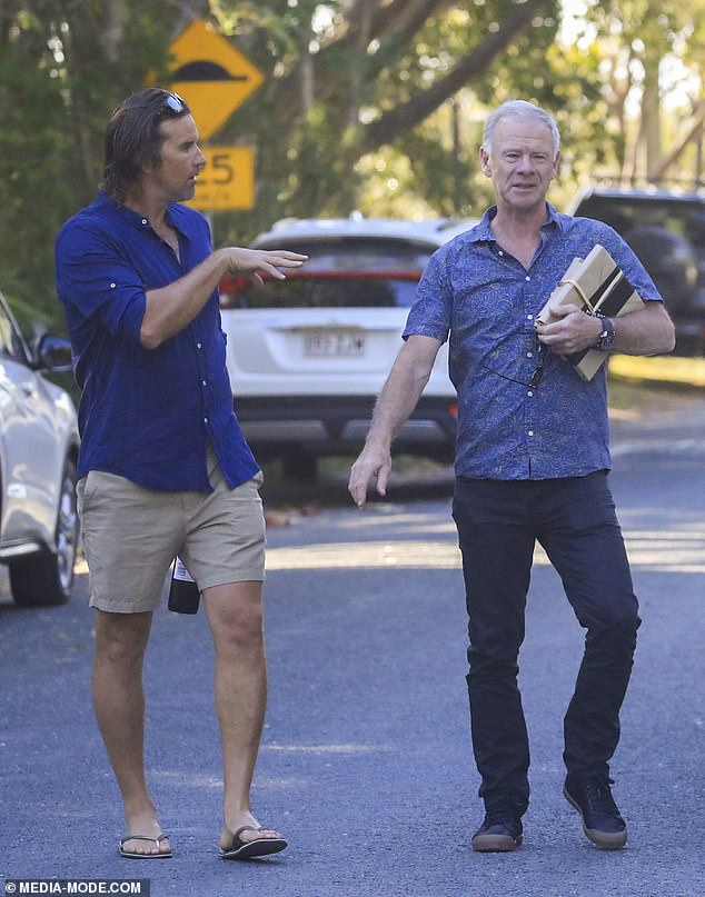 Pals: According to the Daily Telegraph Chris Hemsworth and brother Liam were invited, however they weren't spotted arriving at the event. However, their very handsome father Craig (right), was pictured arriving with tennis player Pat Rafter (left)