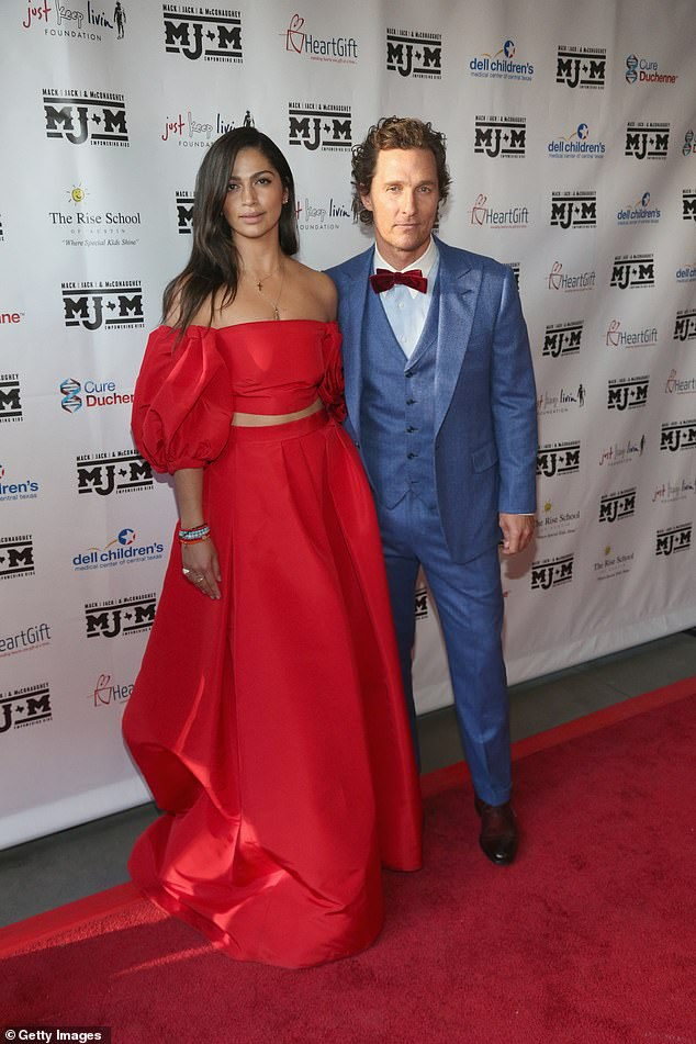 Longtime love: McConaughey says, unlike his parents, he 'can't remember the last time he raised his voice' to Alves, whom he married in 2012