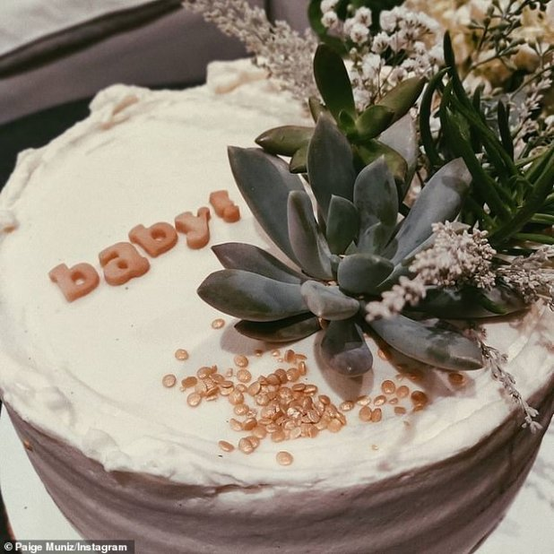 Oh Baby !: Guests enjoyed a rustic-looking cake, decorated with juicy and 'Baby!'  on this