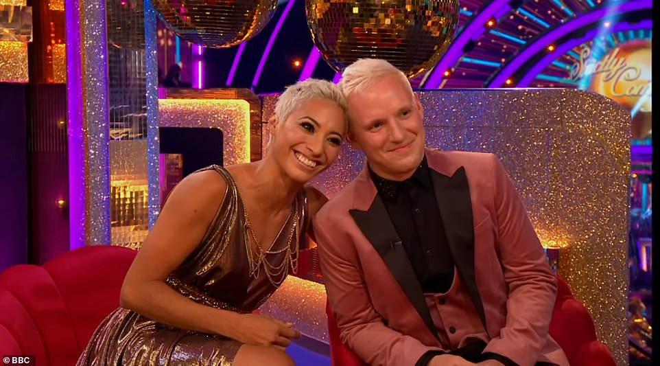 Paired:The launch consisted of the celebrities discovering their professional partners for the first time, though in a post-COVID change, they were instead revealed via video link (Jamie and pro partnerKaren Hauer pictured)