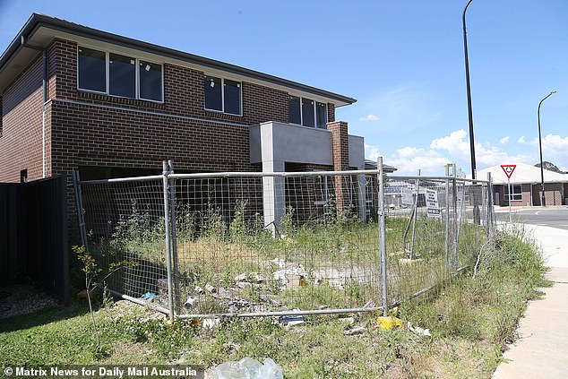 This house inJordan Springs East, a new development in Llandilo, near Penrith in Sydney's west, has been left to rot for years as it is so badly damaged by sinking ground