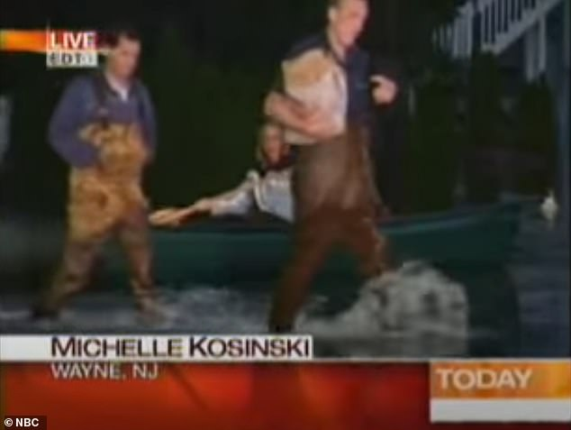 Old footage has resurfaced of the hilarious moment then-rookie journalist Michelle Kosinski was caught short during NBC's Today Show, as it emerges the UK's former ambassador to the US was investigated over suspicions he passed White House secrets to her during an affair