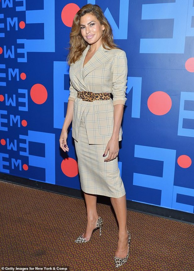 Plotting her comeback: Eva Mendes, 46, hinted she might return to acting in an interview with the Sydney Morning Herald on Saturday morning, a six-year leave to raise her two children with Ryan Gosling. after taking.