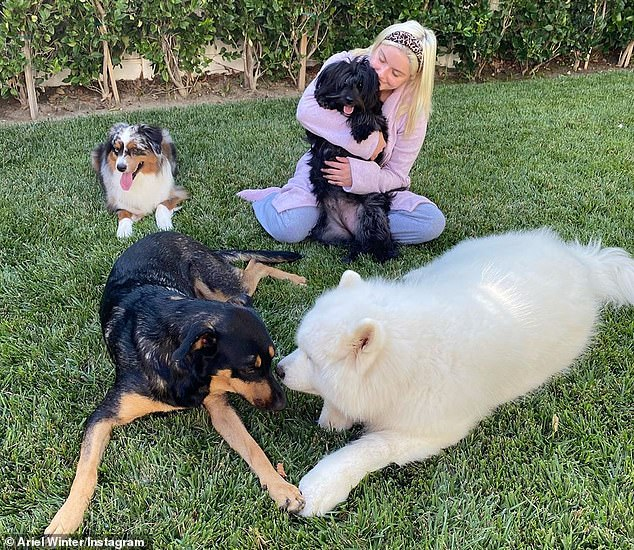 'Furbabies': The 22-year-old animal lover has a lot of love for her four dogs and is a huge advocate for pet adoption