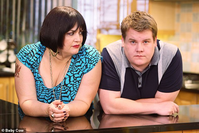 Ruth Jones as Nessa and James Corden as Smithy in the television programme Gavin & Stacey.Ms Jones will be seen reading the letters on a BBC genealogy show next week