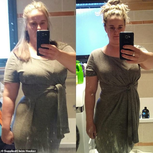 The 33-year-old (pictured before and after) decided to take charge of her health and started doing the keto diet, which involves few carbs and plenty of fat in your diet