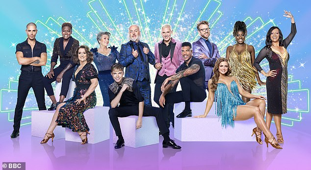 Keep dancing! The Strictly class is pictured (top left) Max George, Nicola Adams, Caroline Quentin, Bill Bailey, Jamie Laing, JJ Chalmers, Clara Amfo, Ranvir Singh, (bottom) Caroline Quentin, HRVY, Jason Bell, Maisie Smith