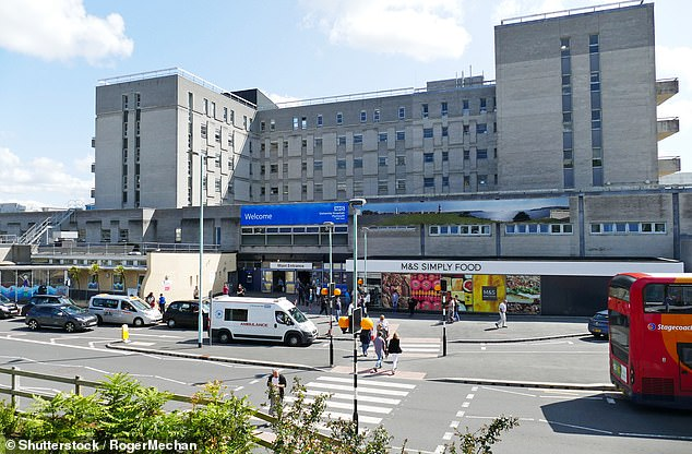 Hospitals are cancelling non-urgent operations as the number of coronavirus outbreaks in the healthcare sector doubles in two weeks.University Hospitals Plymouth NHS Trust (file image), for example, said it was temporarily pausing non-critical planned surgery at Derriford Hospital, although day case procedures are still going ahead